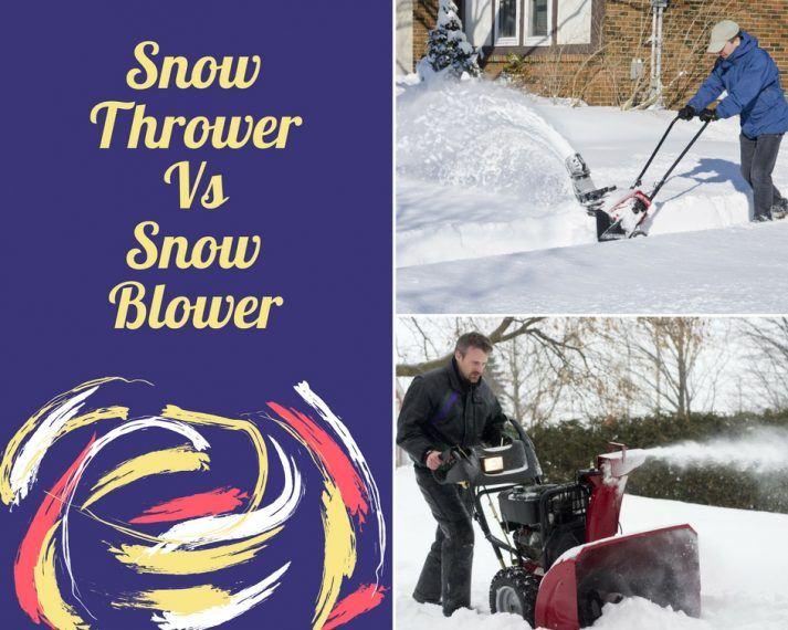 snow thrower vs snowblower