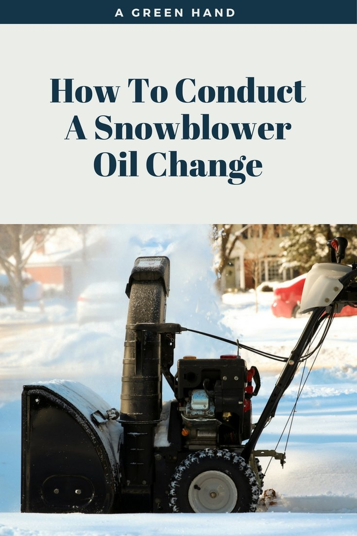 Snowblower Oil Change