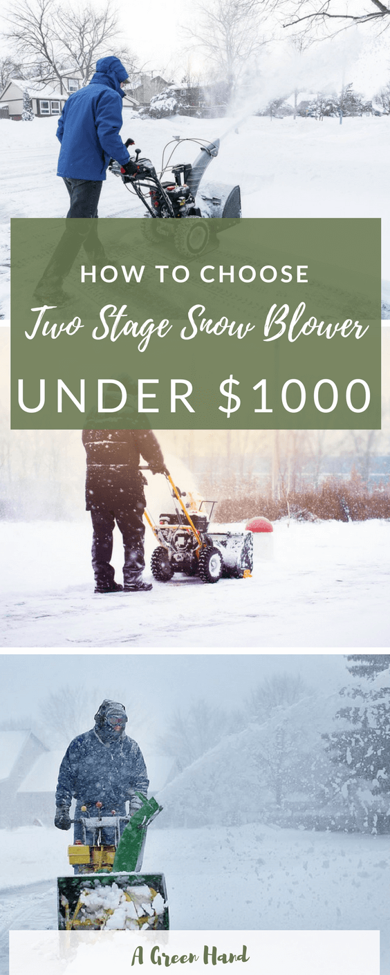 How To Choose The Best Two Stage Snow Blower Under $1000 #gardeningtools #gardening #agreenhand