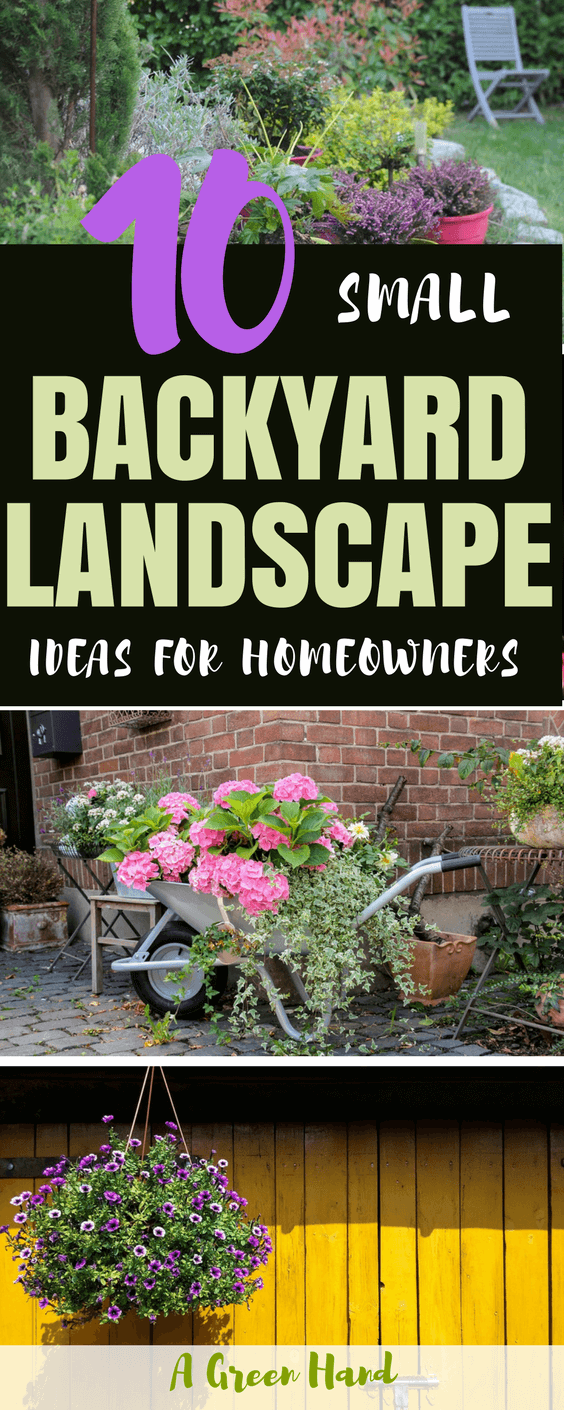 10 Small Backyard Landscape Ideas For Homeowners #backyardlandscape #backyardideas #landscapeideas #gardening #agreenhand