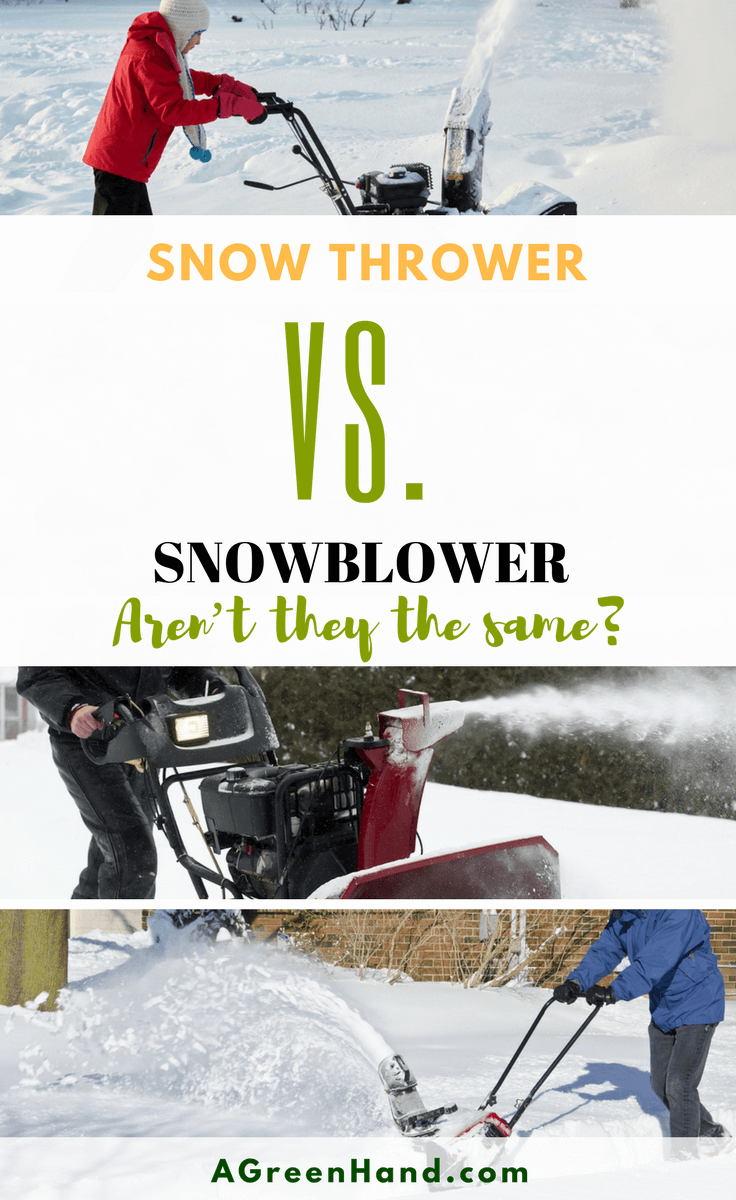 Snow thrower vs Snowblower? Aren't they the same? Aren't all the machines which pick up and dispense snow the same? #snowthrower #snowblower #gardening