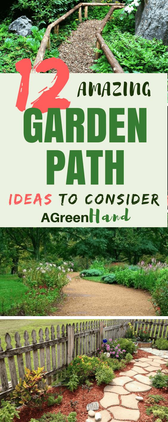 12 Amazing Garden Path Ideas To Consider #gardenpath #gardeningideas #diy  #agreenhand