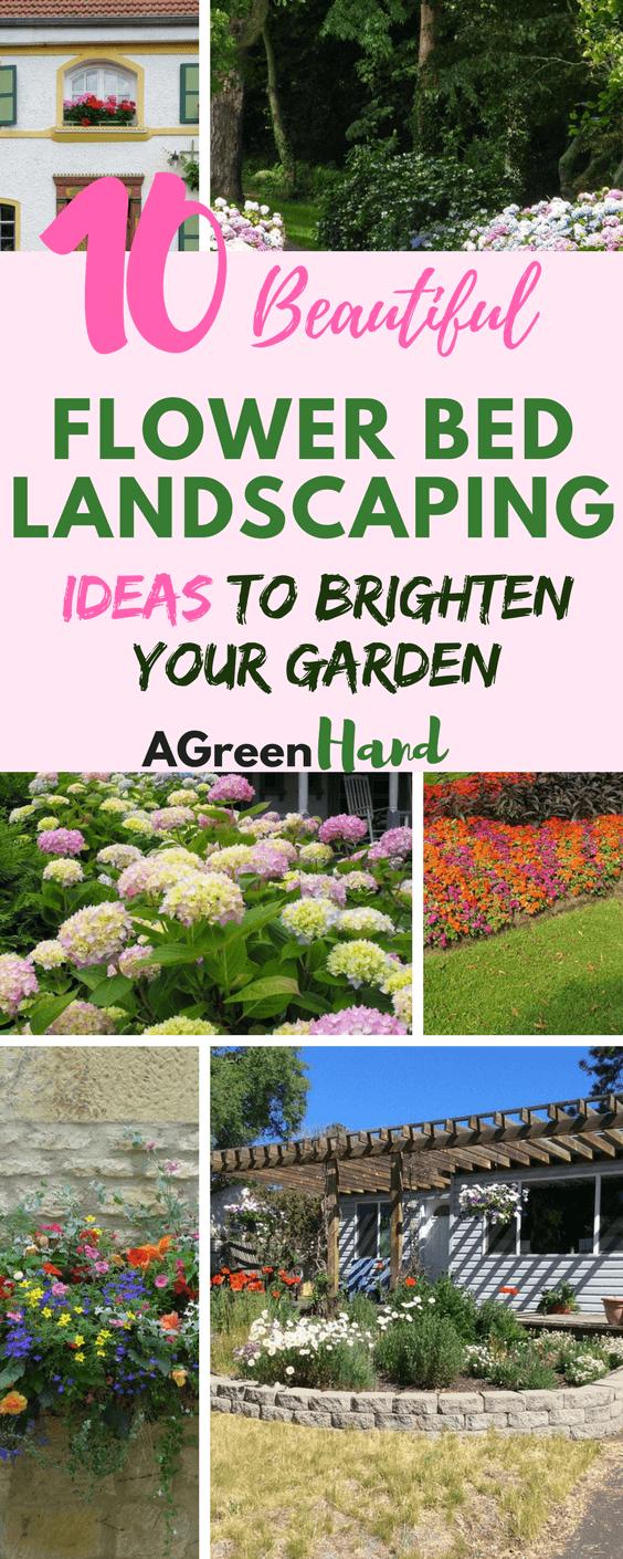 10 Beautiful Flower Bed Landscaping Ideas To Brighten Your Garden #diy  #flowerbedlandscaping #gardeningtips