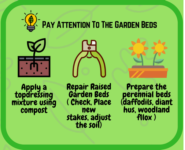 Pay attention to the garden beds