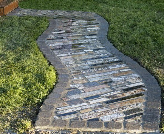 Garden path ideas: Recycled Granite Garden Path