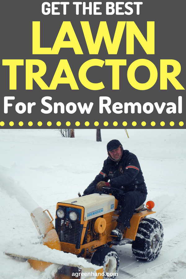 Lawn tractors are commonly utilized in cutting unwanted grass and snow removal during the winter time. It has a cutting deck under the vehicle's front part. The location of the cutting deck affects the maneuverability of the equipment. The best lawn tractor for snow removal has a preferable cutting deck and good maneuverability