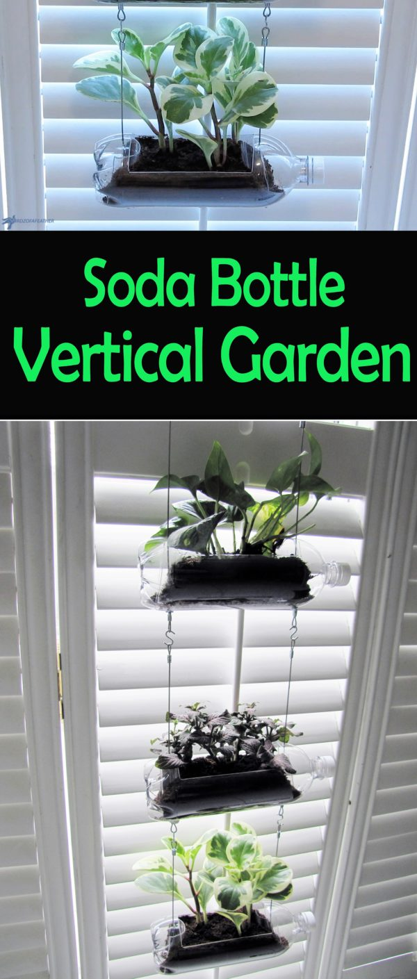 Upcycled Soda Bottle Vertical Garden