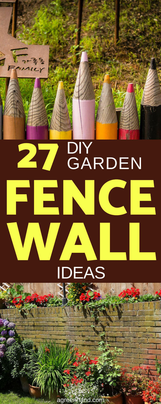 27 DIY Garden Fence Wall Art Ideas #gardenfence #gardeningideas #diy #agreenhand