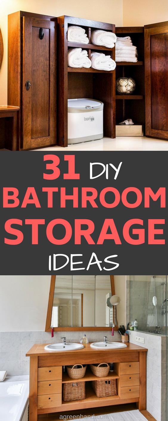 31 clever diy bathroom storage ideas - a green hand 31 Storage Ideas