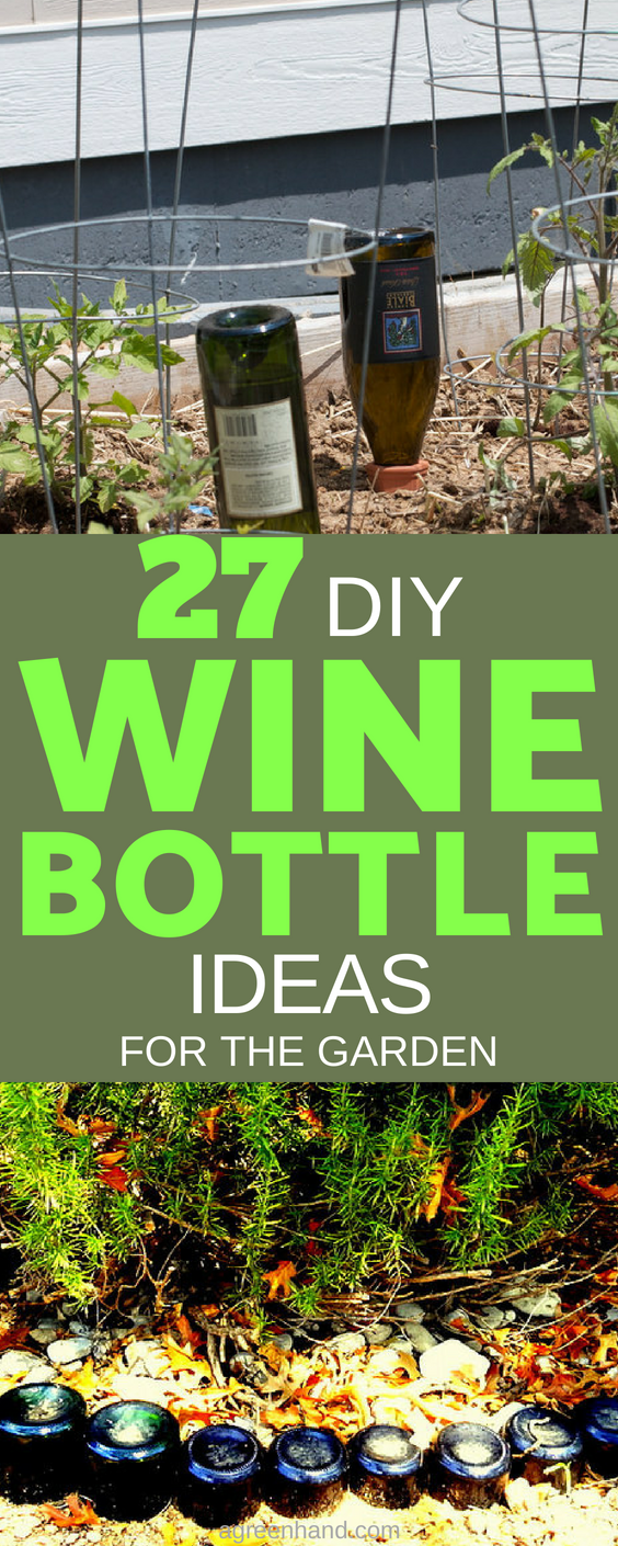 Wine bottle garden ideas