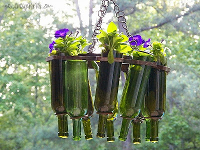 Wine Bottle Ideas For Garden