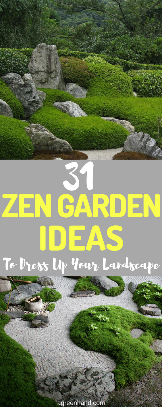 Peaceful Seating Area And Path Zen Garden