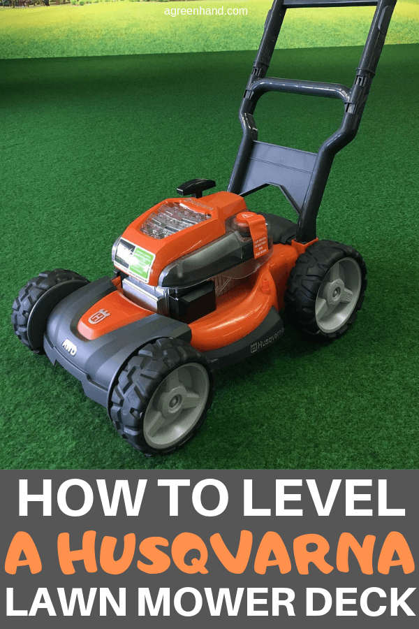 How To Level A Husqvarna Lawn Mower Deck #lawnmower #agreenhand