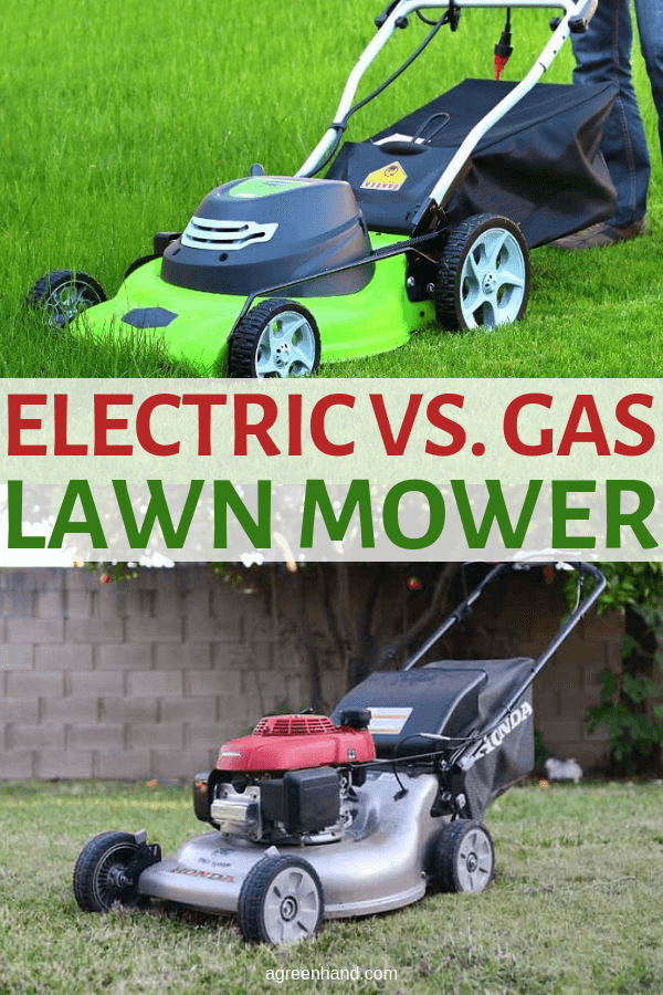 What are the differences between the electric vs gas lawn mower? Read on to find out and see which one's best suited for you! #electric #gas #lawnmower #agreenhand